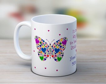 Butterfly gift, butterfly mug, personalised tea cup, teacher mug, gift for her, gift for women, butterfly coffee cup, personalised gift