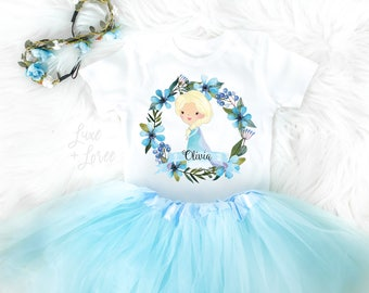 Elsa Frozen Birthday Outfit, Elsa Birthday Shirt, Frozen Birthday Top, First Birthday Shirt, First Birthday Shirt, Elsa Shirt, Frozen Outfit