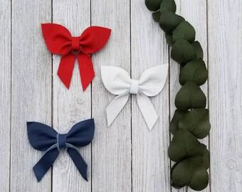 Leather Bow, Leather baby bow,baby headband, toddler headband