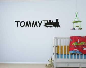 Boys/Girls Custom Name & Train Wall Sticker