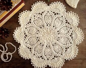 Doily Crochet doily Crochet Doily milk Crochet round doily lace doily gift