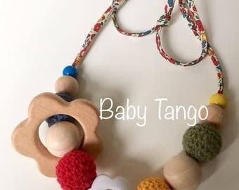 Vintage Breastfeeding Necklace **Nursing Necklace** wooden teether necklace