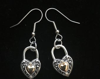 Silver-plated Heart Earrings