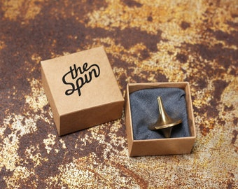 The Spin Brass Spinning Top // Fidget // Inception Totem // Gyroscope