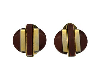 1930s Art Deco Design Vintage Celluloid Earrings