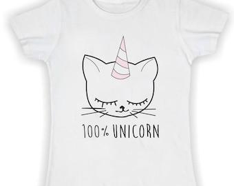 Women's Basic t shirt -100% UNICORN