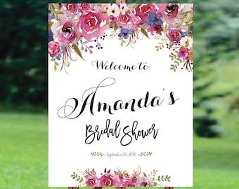 Bridal Shower sign, Bridal Shower Welcome Sign, Bridal Shower decoration, welcome wedding sign, Bridal shower invitation - US_BS0807a
