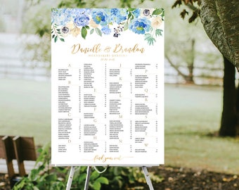 12 Hours, Wedding seating chart, Wedding seating chart alphabetical, Wedding decorations, Seating chart template, Gold Seating chart