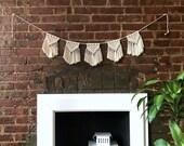 Macrame Bunting • tapestry / macrame decor / boho decor / wall art / door hanging / window hanging / bohemian / made to order