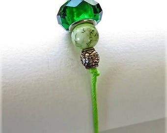 Waxed cotton bracelet 16308