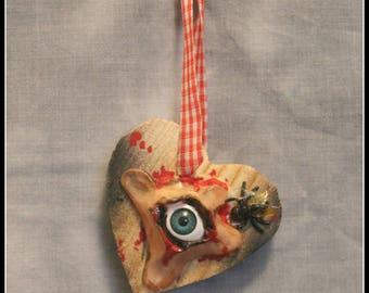 Hanging Eye decoration evil eye macabre horror oddity tree decoration halloween christmas tree
