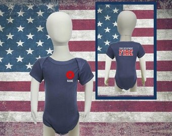 Baby Firefighter Onesie with Maltese Cross