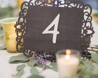 Rustic Wedding Table Numbers | Wooden Table Numbers | Whimsical Wood Table Numbers | Wedding Reception