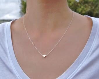 Heart Necklace | Tiny Heart Necklace | Mini Heart Necklace | Gold Heart Necklace | Silver Heart Necklace | Minimalist Necklace