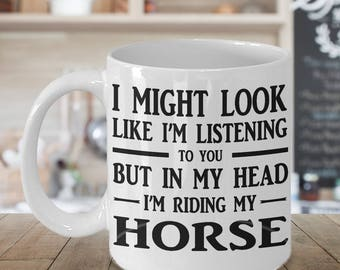 Horse mug, gift for horse lovers, 11oz horse coffee mug, funny horse gift