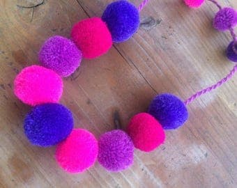 NEW Pompom Necklace / Hippie Necklace / Mexican Pompom Necklace / Summer Hippie Necklace / Collar de Pompones / Summer Necklace