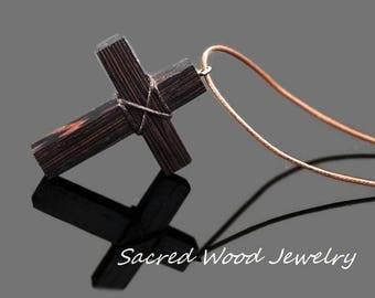 Cross Necklace for Men - Wood Cross Necklace - Wooden Cross - Wood Cross - Cross Necklace - Art Cross Pendant - Cross Jewelry- Cross Pendant