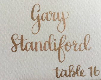 Wedding Place Cards, Calligraphy