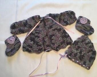 Handmade Baby Girl Sweater Set