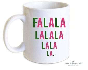 Pink and Green Christmas mug/ Red and Green Coffee Mug/ Coffee-Tea  Monogram  Mug/ Gift for teachers/11oz-15oz white monogrammed  mug