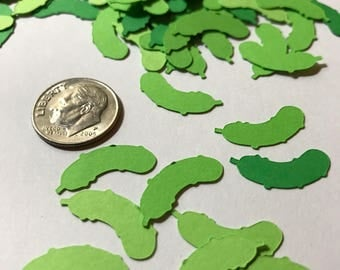 Pickle Die Cut Confetti - 225 pieces - FREE SHIPPING