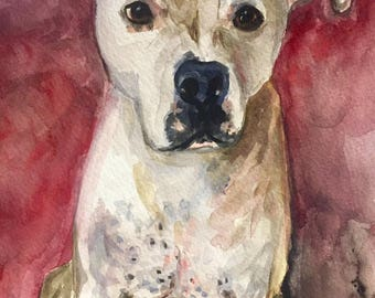 Custom Watercolor Pet Portrait Painted from your Photo