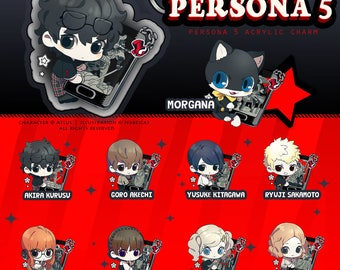PRE-ORDER   2'' Acrylic Charms   Persona 5