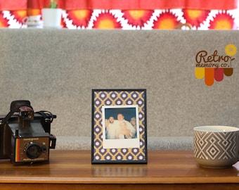 Art deco flat personalised Polaroid frame
