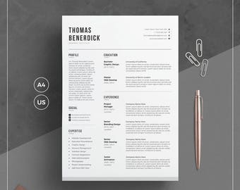 Graduate Student Resume Word Cv Template  Etsy Medical Resume Objective Pdf with No Resume Jobs  Office Depot Resume Paper