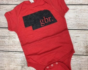 Baby Nebraska onesie-gbr