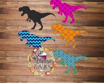 Patterned T-Rex Dinosaur Files SVG PDF JPG