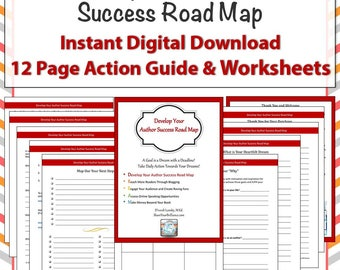 Worksheet Pages - Develop Your Author Success Roadmap - Worksheets, Checklists - Productivity Resource for Authors and Writers