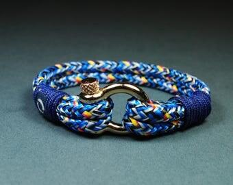 Nautical Bracelet / Sailing Bracelet / Boho Bracelet / Gift For Sister / Sister Gift / Gift For Brother / Cord Bracelet/ Blue Bracelet