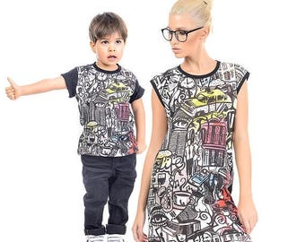 SALE Matching Mother and Son Outfit, First Day Of School Top, Mom And Son Set, Mommy And Me, Boys Shirt, Mom And Boy Matching Outfit, Toddle