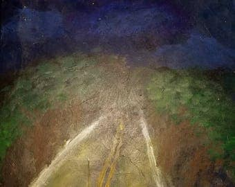 Night Drive', Painting, Acrylic, Canvas