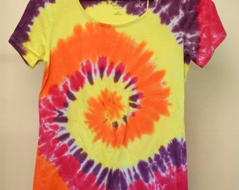 Ladies Size 10 - Ready To Ship - Unisex - Festival - Tie Dyed - T-shirt - 100% Cotton - FREE SHIPPING within Aus