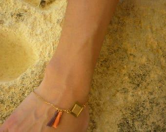 Bracelet-NAZCA-ethnic-tassels-leather Cork-square