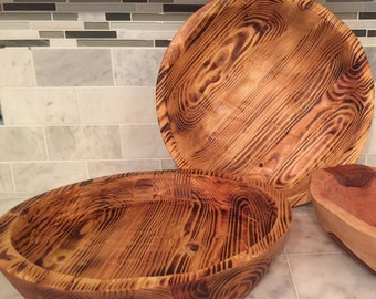 Rustic Wooden Bowl - FREE SHIPPING