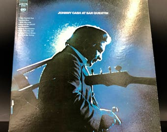 JOHNNY CASH VINYL Record - Johnny Cash At San Quentin - Rare Vintage Record - Collectible Lp - Awesome Original! - Great Gift!