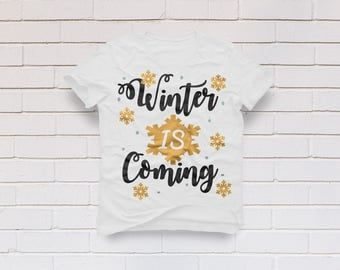 Christmas svg, Winter svg, Winter is coming svg, Merry christmas svg, Christmas shirt, Santa svg, Cricut, Cameo, Clipart, Svg, DXF, Png, Eps