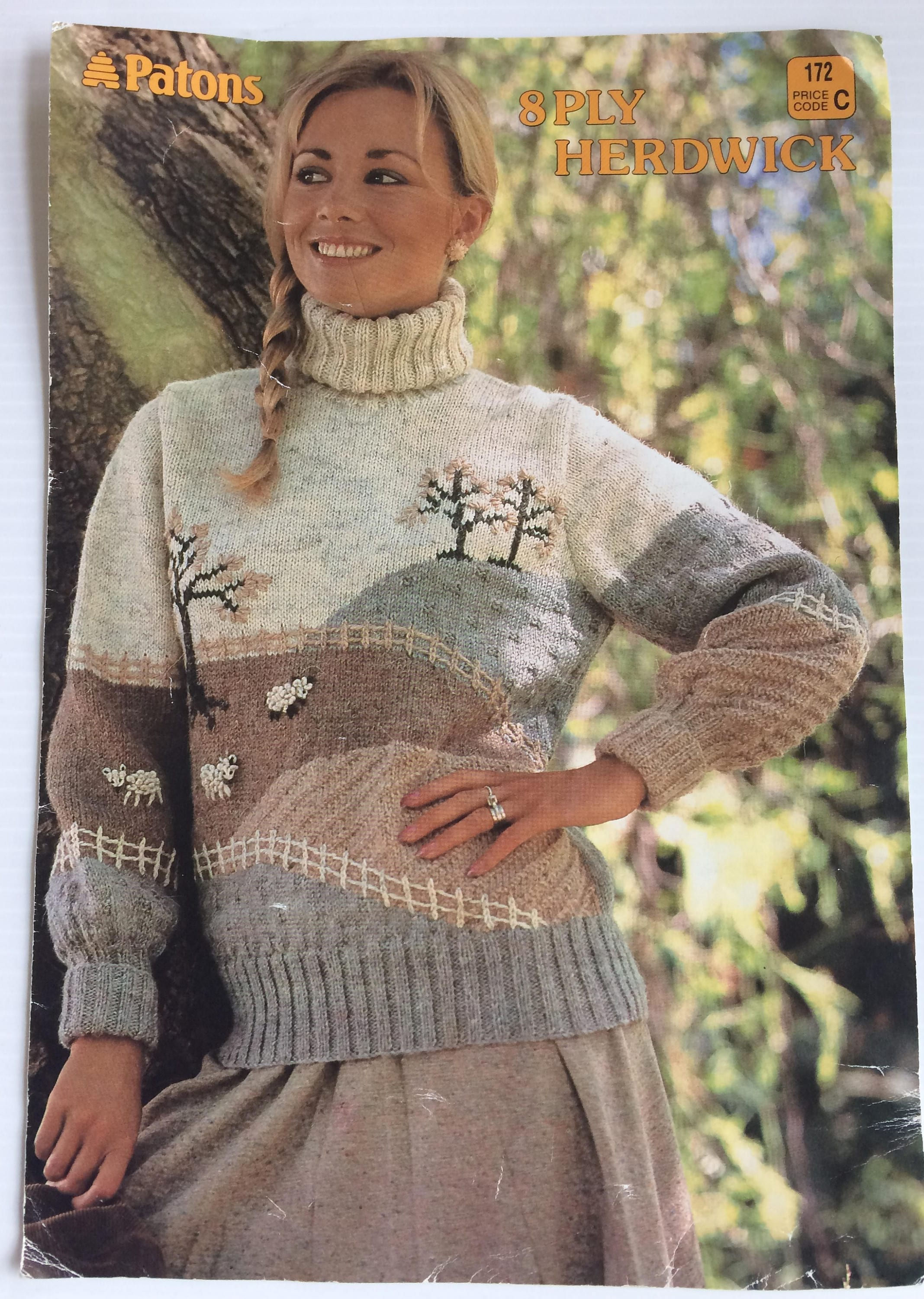 vintage patons knitting booklet 172 ladys scenery