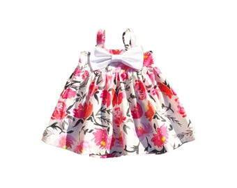 Baby Floral Dress, Baby Girl Bow Dress, Toddler Bow Dress, Toddler Maxi Dress, Girls Maxi Dress, Baby Top, Girls Tunic Top, Toddler Tunic