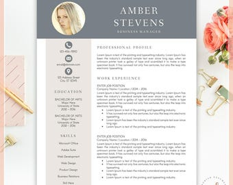 Creative Resume Template, CV Template for MS Word, Professional Resume, Modern Resume Design, Resume Instant Download