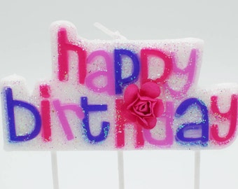 Letter candles / Letter candle / Happy birthday candle / Birthday cake candle / Cake candles / Girl birthday candle / Pink birthday candle