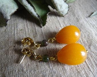 925 silver earrings silver studs yellow earrings elegant gold green earrings long dangle earrings