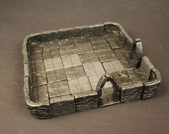 Large Dungeon Magnetized Tile Set (Primed Black) with Round Corners