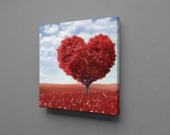 Where Love Grows Canvas Wall Art Print Decor Home Picture Abstract Home, Office or Dorm