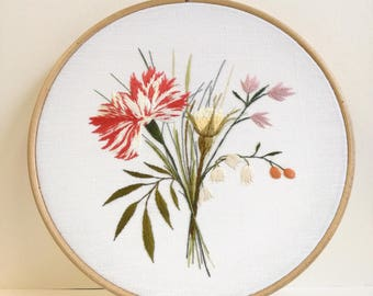 Hand - floral Bouquet embroidery