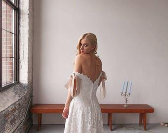 Tea Length Wedding Dress Etsy