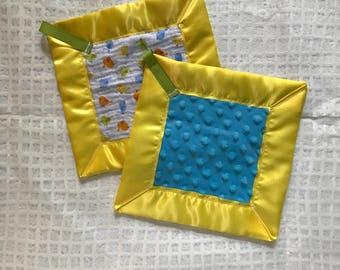 Baby birdies lovey blanket-security blanket-sensory blanket baby shower gift